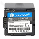 Blumax 7.2 V/2200 mAh Li-Ion Battery for Panasonic CGA-DU21fits NV-GS180EF-S/NV-GS200EG-S/NV-GS200GN/NV-GS200K/NV-GS21/NV-GS21E-S