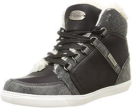 Kaporal Pagan, Sneakers Hautes femme, Noir, 37 EU