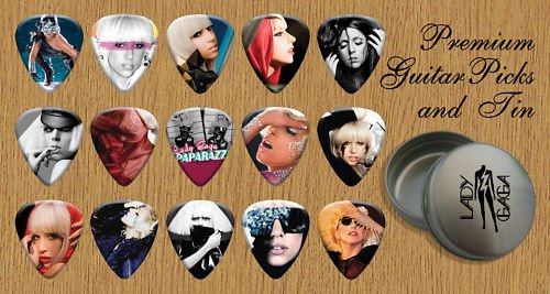 LADY GAGA Premium Guitar Picks X 15 In Tin (G)