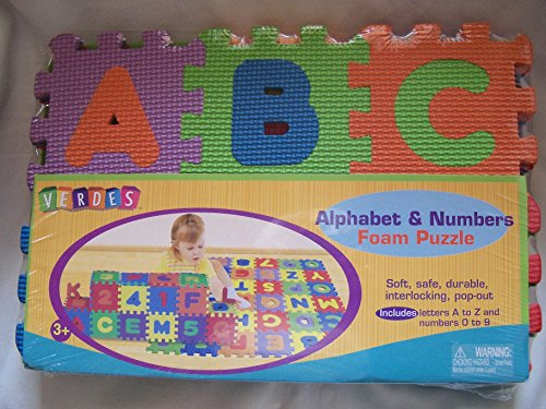 Verdes 6 Alphabet and Numbers Foam Puzzle