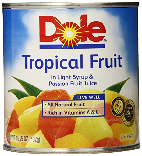 Dole Tropical Fruit, 15.25 Ounce Cans (Pack of 12) (Fruit Cans compare prices)