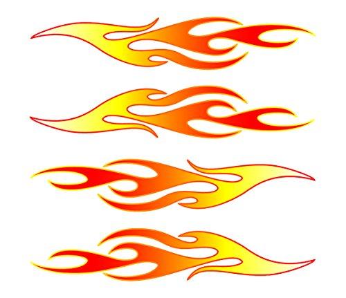 Car Flames: Flames Vinyl Stick Onz Decal Vehicles Parts Vehicle Parts