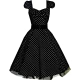 "Pretty Kitty Fashion 50s Polka Dot Schwarz Wei� Cocktail Kleidvon ""Pretty Kitty"""