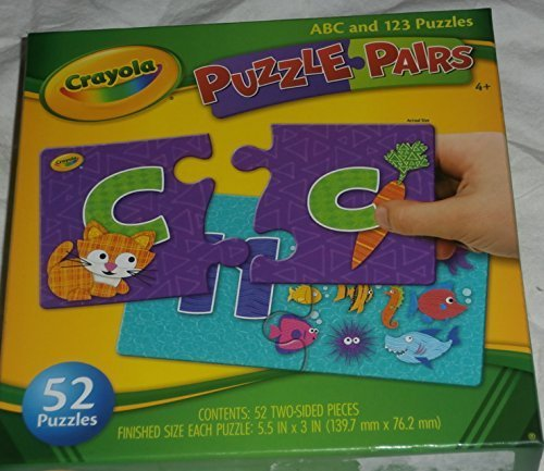 Crayola Puzzle Pairs ABC and 123 Puzzle