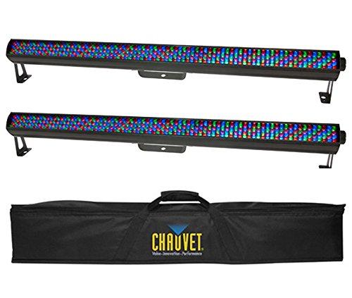 2 Chauvet Colorrail Irc Linear Led Strip Rgb Dmx Wash Lights + Chs-60 Travel Bag