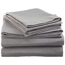 Heather Solid Flannel Sheet Set in Lilac