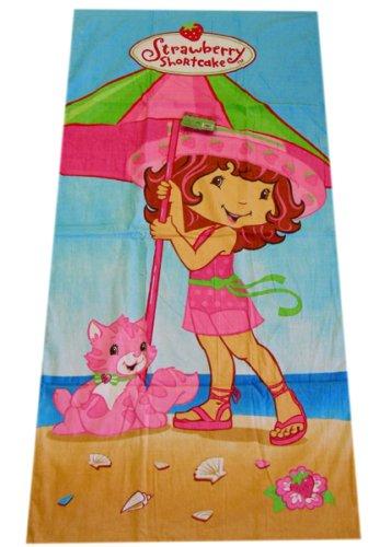 Strawberry Shortcake Bath Towel / Vacation on the beach Towel with Custard