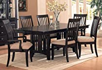 Hot Sale Dining Set Cappuccino Finish Sunset Collection
