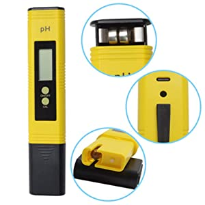 Digital PH Meter PH Tester 0.01 PH High Accuracy Water Quality Tester with ATC for Household Drinking Water, Swimming Pools, Aquariums, Hydroponics (Y