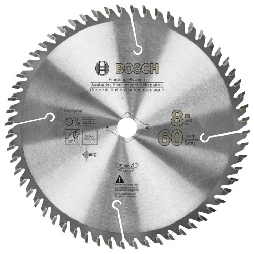 Bosch PRO860FIN 8-Inch 60T Finishing Precision Series Saw Blade (Bosch Radial Arm Saw compare prices)
