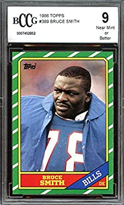 1986 topps #389 BRUCE SMITH buffalo bills rookie card BGS BCCG 9 graded card