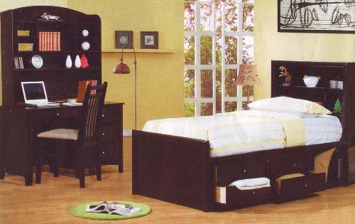 Finish Full Chest Bed Kids Bedroom Set Desk New Furniture Sets