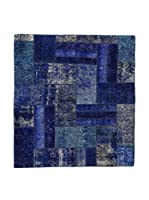 Eden Carpets Alfombra Pacthwork Azul 162 x 149 cm