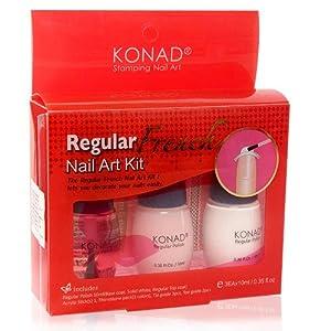 Konad French Manicure Stamping Nail Art Kit