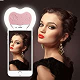 Reacher Selfie Light with small Full-size Makeup Mirror (Pink)