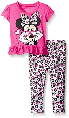 Disney Baby Minnie Mouse Legging Set with Fashion Top, Pink, 3-6 Months
