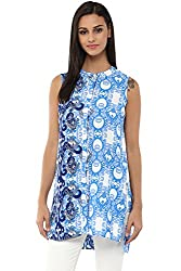 Akkriti by Pantaloons Women's Tunic ( 205000005638069, Blue, Small)