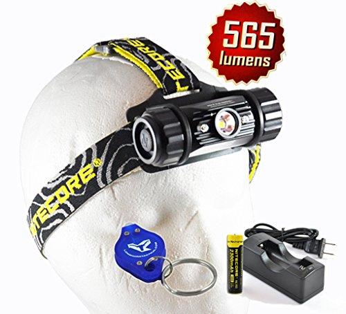 Nitecore Hc50 565 Lumens Cree Xm-L2 Rechargeable Led Headlamp W/ Nitecore 18650 Rechargeable Battery, Charger And Lumentac Keychain Light