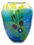 51qcRqNseYL. SL160  11 Double Spout Art Glass Hand Blown Vase