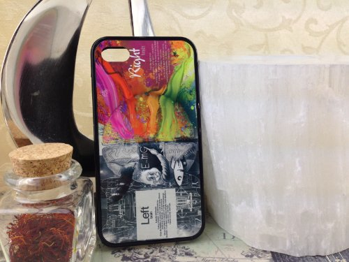 Iphone 4, Iphone 4S Left Right Brain Albert Einstein Inspired Case With Free Screen Protector! For The Geek And Nerd As Well As The Creative And Eccentric.