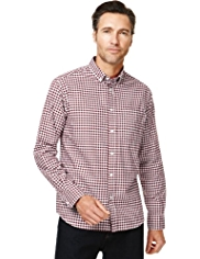 Pure Cotton Gingham Checked Oxford Shirt