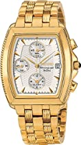 Seiko SNA654 Mens Watch Stainless Steel Gold Tone Le Grand Sport Alarm Chronograph