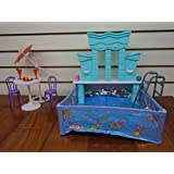 Barbie Size Dollhouse Furniture- Water Fountain & Swimming Pool Play Set
