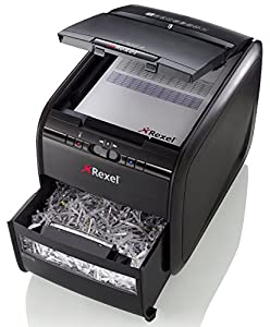 Rexel Auto+ 60X Cross Cut Paper / Credit Card Shredder with 60 Sheet Capacity