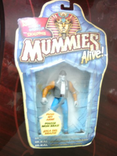 Fright Sight Ja-Kal Action Figure - With Pop-out Eyes and Dropping Jaw! - Fright Sight Mummies Alive! Series