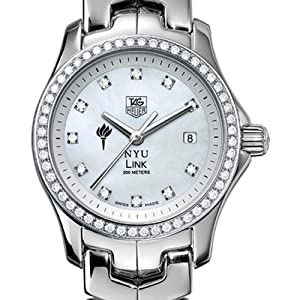 NYU TAG Heuer Watch - Women's Link Watch with Diamond Bezel at M.LaHart