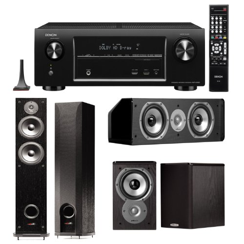 Denon Avr-X4000 7.2 Channel 4K Networking Home Theater Receiver Plus A Polk Audio Home Theater Speaker Package! (Cs10, Tsi100 & R50)
