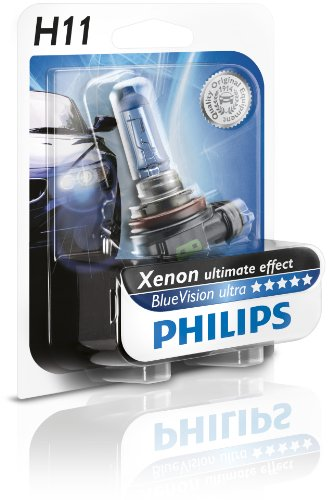 Philips 12362BVUB1 - H11 BlueVisionUltra Blister, 12V, 55W, PGJ19-2