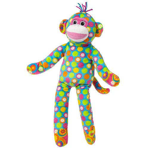 Mary Meyer New Arrivals Print Pizzazz Assortment Of Baby Toys (Sock Monkey - Blue Spotted Body) front-1037387