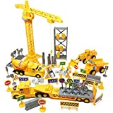 Boley 100-Piece Construction Project and Vehicles Play Set - Variety Pack of Construction Toys Cars Vehicles and Playset Toy Accessories for Boys, Girls, and Toddler Builders (Color: Construction Playset)