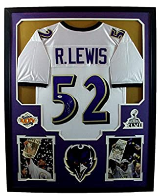 Ray Lewis Framed Jersey Signed JSA COA Autographed Baltimore Ravens