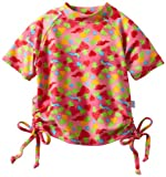 i play. Baby-girls Infant Short Sleeve Tie Rashguard Shirt