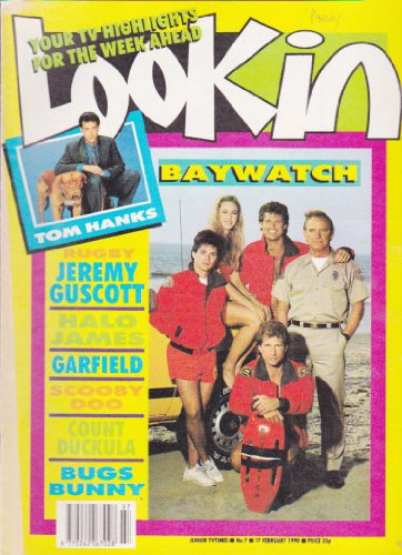 LOOK IN MAGAZINE BACK ISSUE #7 1990 BAYWATCH - TOM HANKS - JEREMY GUSCOTT - HALO JAMES