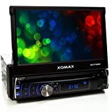 XOMAX XM-DTSB906 Car Multimedia System (18 cm (7 Zoll) Touchscreen, DVD, MP3-Player, Kartenslot, USB)