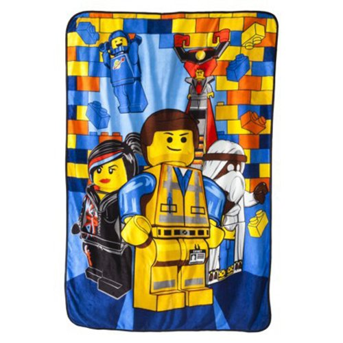 Lego Throw Pillow And Blanket Set : NEW THE LEGO MOVIE EVERYTHING IS AWESOME PLUSH BLANKET THROW DECORATIVE PILLOW
