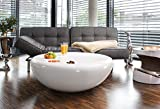 Couch-Tisch-wei-Hochglanz-rund-aus-Fiberglas-Durchmesser-100cm-Trisk-Super-Stylischer-Wohnzimmer-Tisch-im-Retro-Design-Glas-Weiss-100-cm-x-38-cm