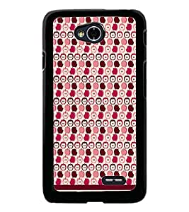 PrintDhaba Pattern D-1900 Back Case Cover for LG L90 (Multi-Coloured)