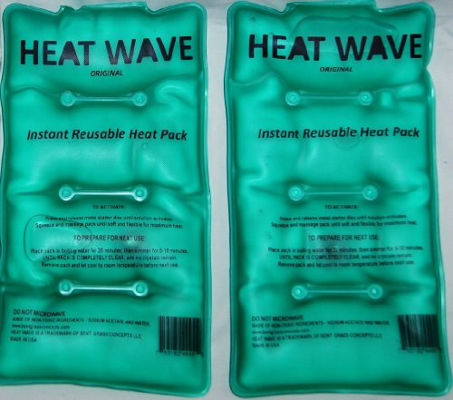 HEAT WAVE Instant Reusable Heat Pack - MEDIUM 2-Pack VALUE-PACK - Premium Quality - Medical Grade - MADE IN USA! (not China) (Instant Heat Pack Reusable compare prices)