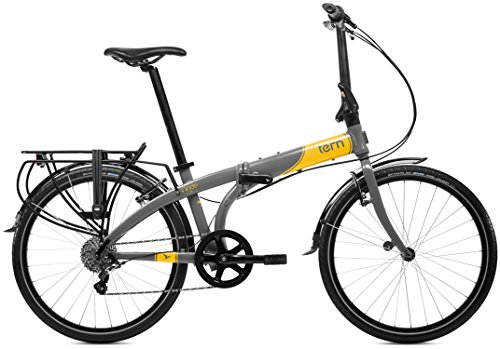 tern (turn) Node D8 2015 24 inch model folding bike [with 8 speed, rear rack, Black / Yellow 15NOD8GYYE