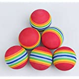 50pcs Golf Swing Training Aids Indoor Practice Sponge Foam Rainbow Balls