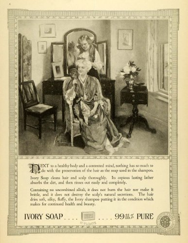 1918 Ad Ivory Soap Shampoo Procter Gamble Grandmother Granddaughter Hair Care - Original Print Ad front-1017473