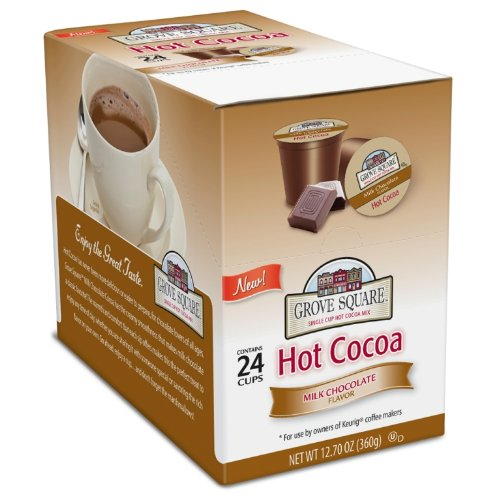Grove Square Hot Cocoa Cups, Milk Chocolate, Single Serve Cup for Keurig K-Cup Brewers, 24-Count
