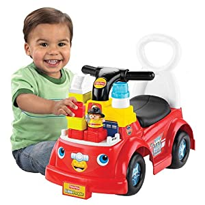 Amazon.com: Fischer Price Little People Build 'n Fun Fire Truck Ride
