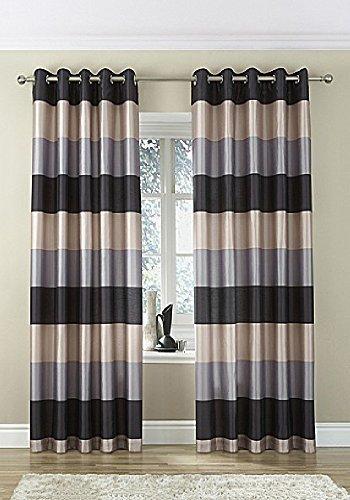 brazil-negro-plata-beige-a-listas-seda-imitacion-anillas-superiores-66-x-72-cortinas-oir