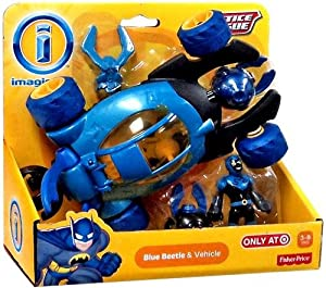 Imaginext, Justice League, Exclusive Blue Beetle & Vehicle