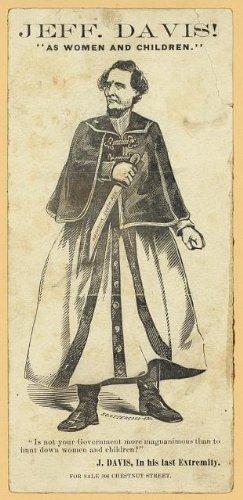 Photo: Jefferson Davis,As Women,Children,Dressed,Civil War,Hunt,Bowie Knife,1865